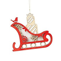 Enesco Flourish Gift Woodlands Sleigh Ornament, 3.5-Inch [Misc.]
