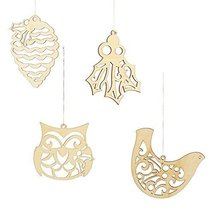 Enesco Flourish Gift Nature Ornament, Set of 4 [Misc.]