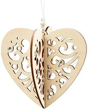 Enesco Flourish Gift Slotted Heart Ornament, 3.8-Inch [Misc.]