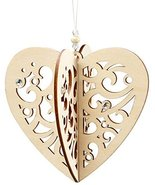 Enesco Flourish Gift Slotted Heart Ornament, 3.8-Inch [Misc.] - $5.94