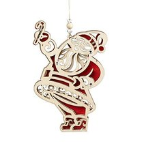 Enesco Flourish Gift Santa Ornament, 5-Inch [Misc.]