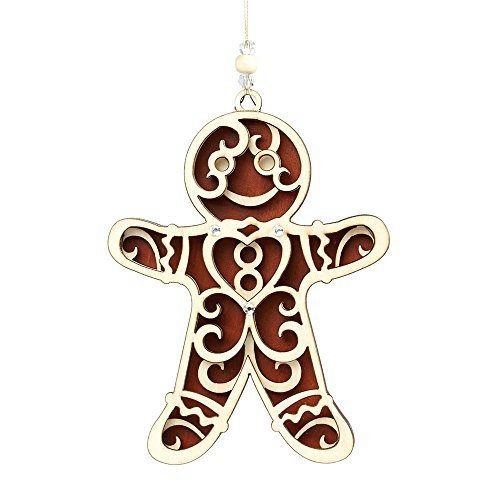 Enesco Flourish Gift Gingerbread Ornament, 5-Inch [Misc.]