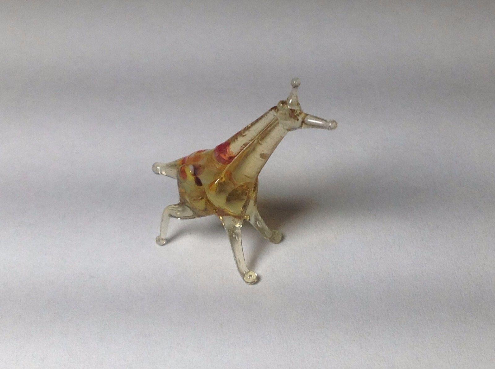 Miniature Glass tiny giraffe Handmade Blown Glass Made USA