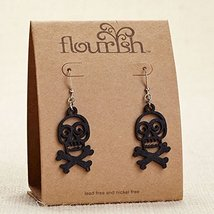 Enesco Flourish - Earrings Skull And Cross