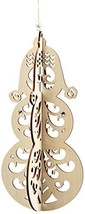 Enesco Flourish Gift Slotted Snowman Ornament, ... - $5.94