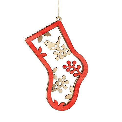 Enesco Flourish Gift Woodlands Stocking Ornament, 4-Inch [Misc.]