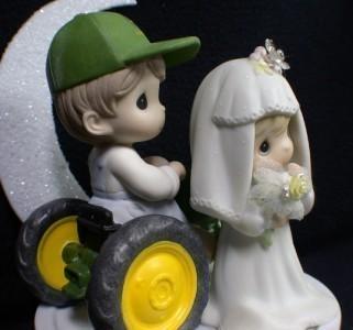 Precious Moments John Deere Wedding Cake Topper