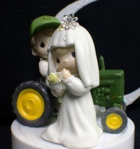 John Deere Tractor Wedding Cake Topper Precious Moments
