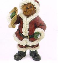 "Boyds Shoe Box Bear ""S.C. Kringlebeary"" 4.25"" Santa Bear   #3244 2 E Nib 2003 - $18.99"