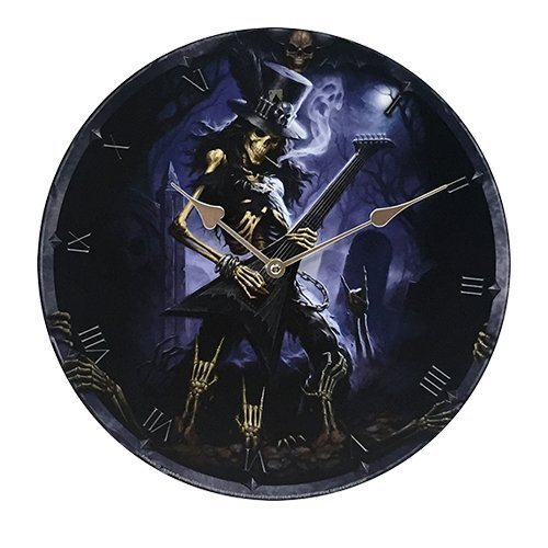 "Primary image for Play Dead Wall Clock By James Ryman Gothic Round Plate 13.5"" D"
