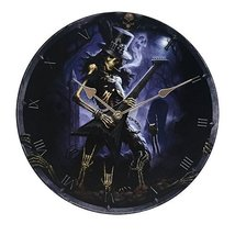 "Play Dead Wall Clock By James Ryman Gothic Round Plate 13.5"" D - $19.79"