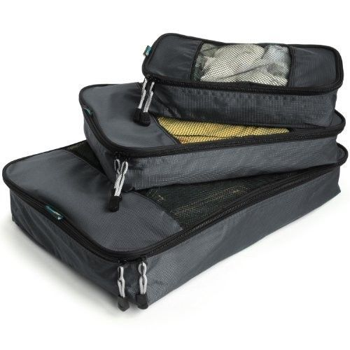 Travel Packing Cubes - Weekender Trip Organizer Set - Light Bag Fit Breathable