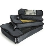 Travel Packing Cubes - Weekender Trip Organizer Set - Light Bag Fit Brea... - £20.67 GBP