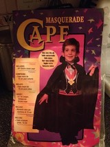 Fancy Masquerade Black Cape Child Costume Accessory Rubies 755 New - $14.84