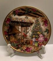 ❤❤ RARE 1990 ROYAL ALBERT OLD COUNTRY ROSES ENGLAND CHRISTMAS JOY PLATE  ❤❤ - $44.50