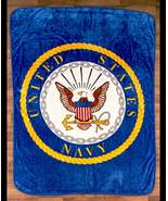 """The Lakeside Collection 60x80"""" Plush Military Throws-Navy - $34.77"""