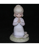 Vintage Lefton Bisque Figurine Thanksgiving Rel... - $13.50