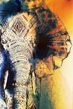 "12x18"" wall poster Indian Elephant Art home décor art work gift drawing ... - $9.90"