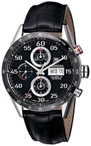 Tag Heuer Men's CV2A10.FC6235 Carrera Chronograph Automatic Black Leathe... - $4,857.05