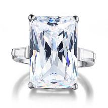 Sterling Silver Wedding Anniversary Ring 8.5 Ct Created Diamond Luxury J... - $139.99