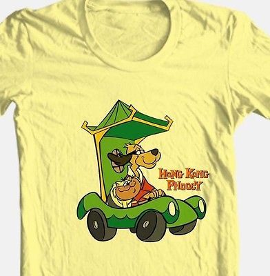 Hong Kong Phooey T-shirt retro 80's Saturday morning cartoon cotton graphic tee