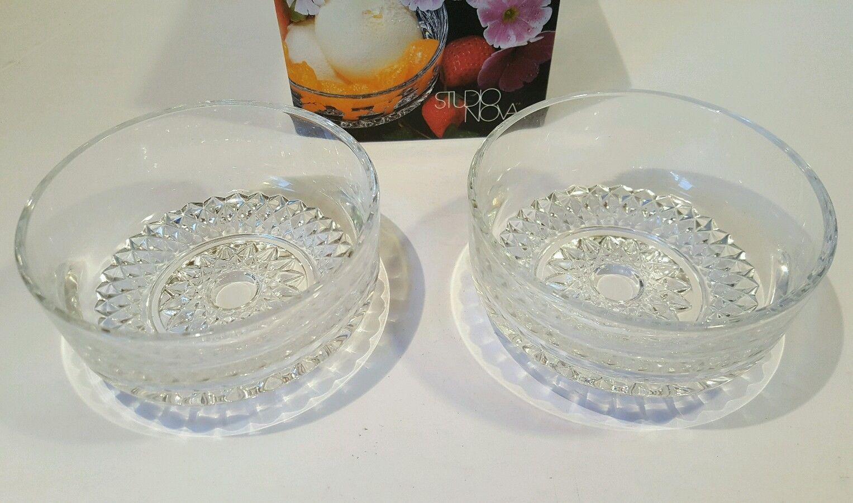 Grand-mère Studio Nova individual bowl x 2. Crystal - $15.83