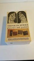 Skor-Mor Thinker Series Puzzles and Games  Box Four Puzzles & Games vintage - $19.79