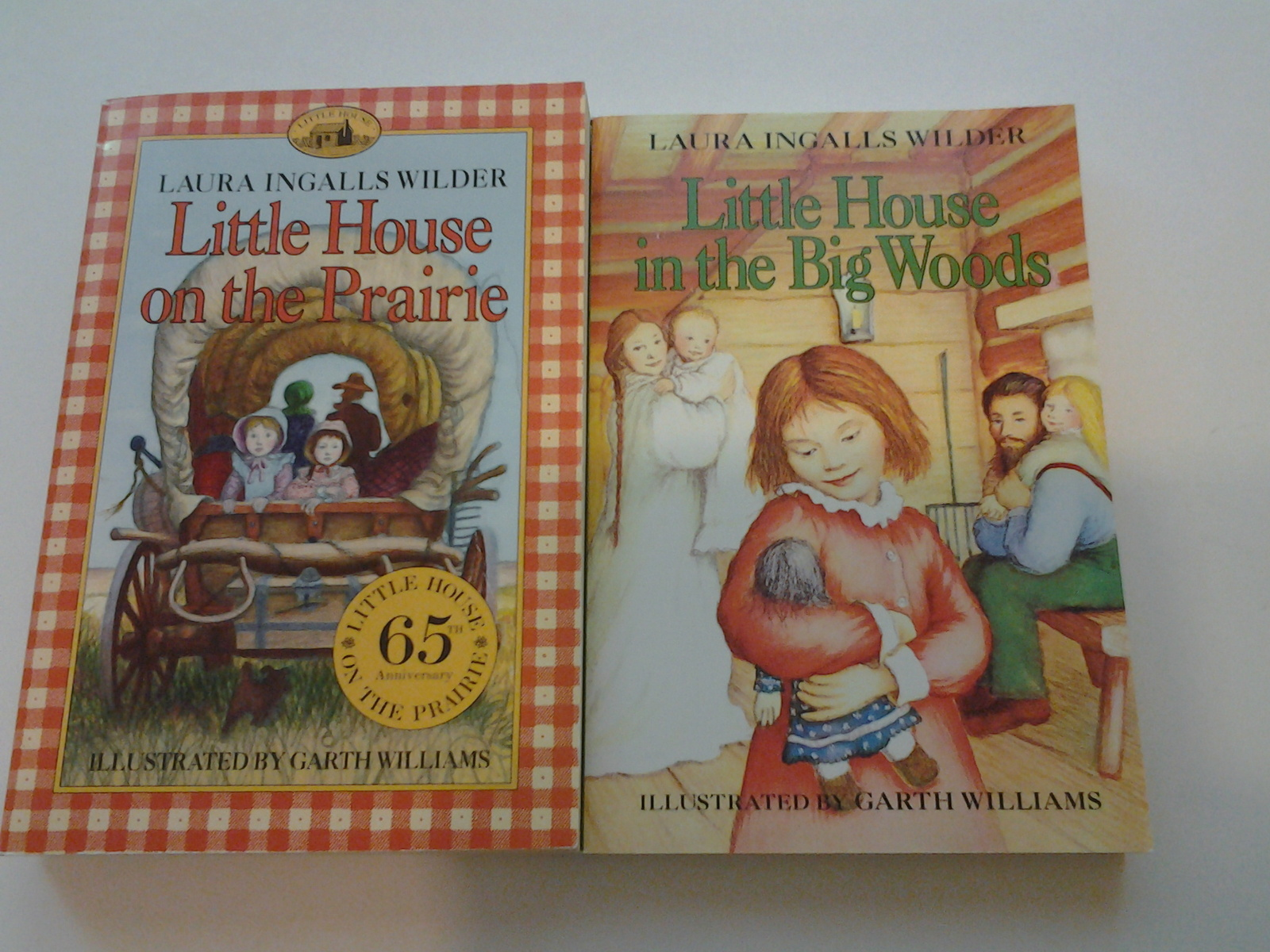 Little House on the Prarie & Little House in the Big Woods 2003 PB VG, Free Frt