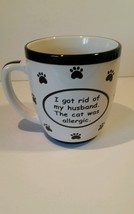 LARGE Tumbleweed Coffee Cup Mug cat animals allergic husband - $19.79