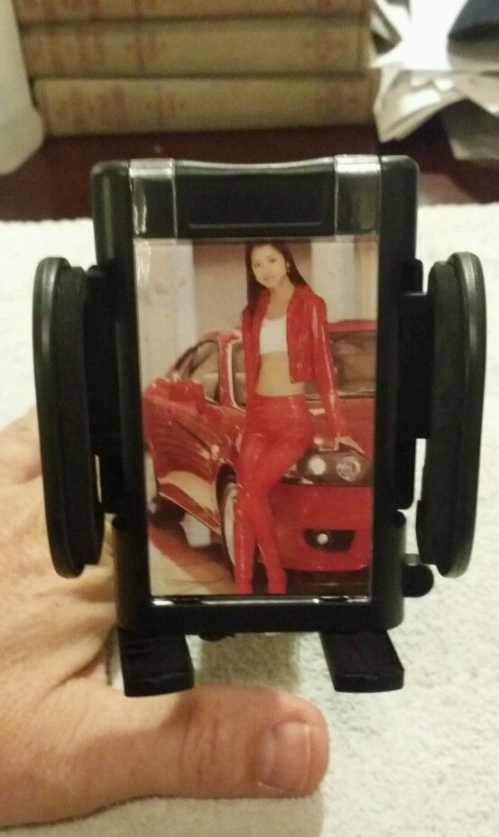 Universal phone car holder mount 360 suction cup. Photo insert . black