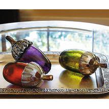 Smithsonian Artisan Blown Glass Acorns - Purple, Green or Amber (PB16) - $49.99
