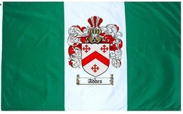 Addes Coat of Arms Flag / Family Crest Flag - $29.99