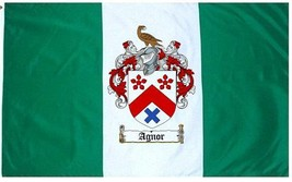 Agnor Coat of Arms Flag / Family Crest Flag - $29.99
