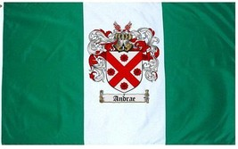 Andrae Coat of Arms Flag / Family Crest Flag - $29.99