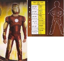 MARVELS IRON MAN MUSCLED CHILD'S SZ 4/6 COSTUME NEW!! - $45.00