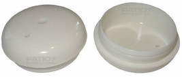 """16 White Deluxe Insert 1-1/2"""" Cups Glides For Wrought Iron Furniture - $11.99"""