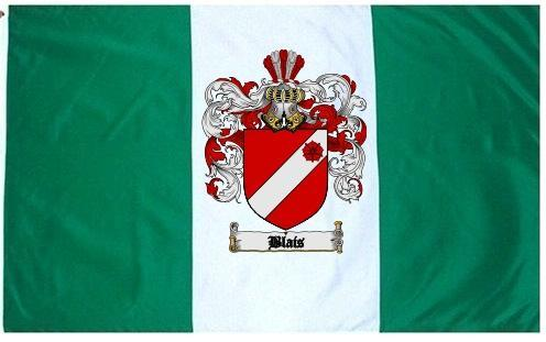 Blais Coat of Arms Flag / Family Crest Flag