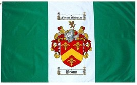 Broun Coat of Arms Flag / Family Crest Flag - $29.99