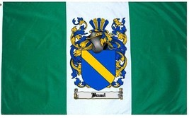 Bruni Coat of Arms Flag / Family Crest Flag - $29.99