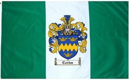 Cortes Coat of Arms Flag / Family Crest Flag - $29.99