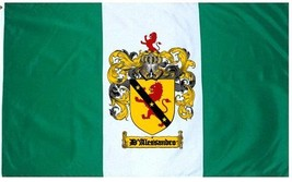 D'alessandro Coat of Arms Flag / Family Crest Flag - $29.99