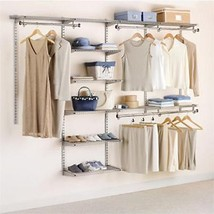 Clothes Shelves Rack Rubbermaid Configurations Custom Closet Organizer 4... - $98.97