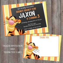 Tigger Birthday Invitation: Personalized, Chalkboard, thank you card Set - $1.45