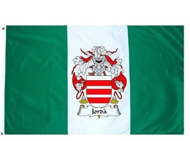 Jorda Coat of Arms Flag / Family Crest Flag - $29.99