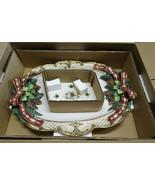 "Fitz & Floyd Florentine Christmas 18 1/2"" Platter in Box - $297.88"