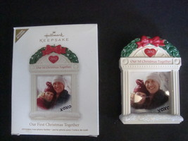 Hallmark Keepsake Ornament Our First Christmas Together 2012 Photo Frame - $5.99