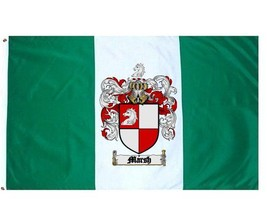 Marsh Coat of Arms Flag / Family Crest Flag - $29.99