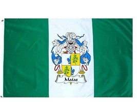 Matas Coat of Arms Flag / Family Crest Flag - $29.99