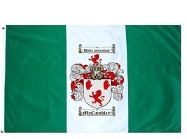 Mccambley Coat of Arms Flag / Family Crest Flag - $29.99