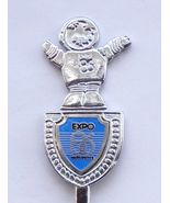 Collector Souvenir Spoon Canada BC Vancouver Expo 86 Mascot Expo Ernie Figural - $9.99